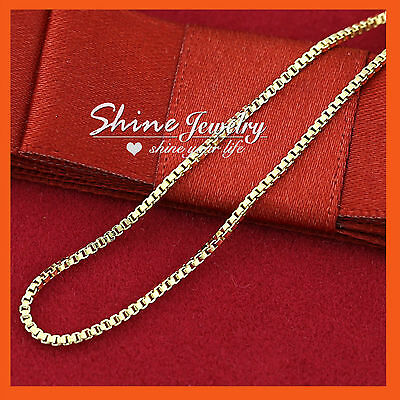 AU9.72 • Buy 9K PLAIN YELLOW GOLD FILLED LADY GIRLS KIDS MENS BOX CHAIN NECKLACE For PENDANT
