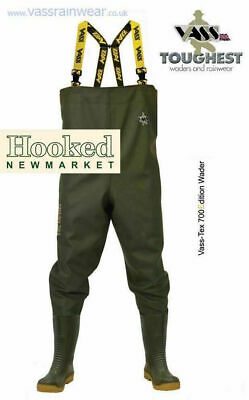 £76.95 • Buy Vass Tex 700 NOVA Chest Waders  -  ALL SIZES 6-13  NEXT DAY DELIVERY