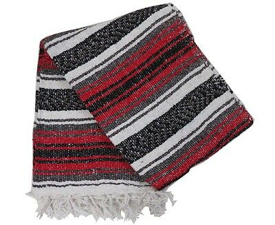 Mexican Blanket Falsa Yoga Picnic Throw 72  X 50 -Traditional Colors • 13.74£