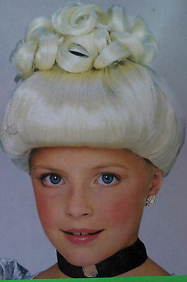 £5.04 • Buy NWT GIrls Blonde Cinderella Wig Up-Do Curls Princess Fairy Tail Glamour Queen C8