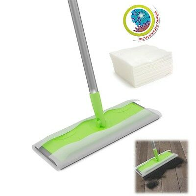 Super Wood Tile Laminate Floor Cleaner Static Cleaning Mop And Wet Or Dry Wipes  • 9.79£