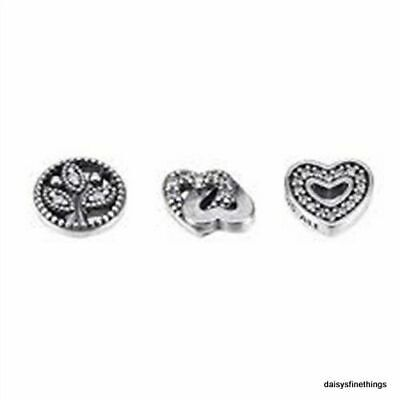 AU42.07 • Buy Authentic Pandora Charms Love And Family Petites  #792022cz  Retired