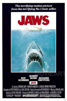 Jaws Original Vintage Movie Poster Film A4 A3 Art Print Cinema #2 • 8.85£