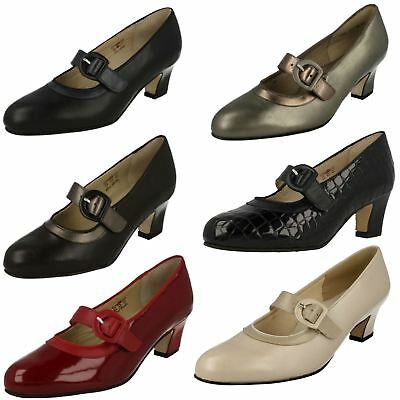 Ladies Equity Wide Fitting Court Shoes - 'Maxine' • 64.99£