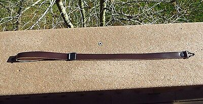 $ CDN61.92 • Buy WW2 US Army M1 Helmet Leather Chinstrap Black Buckle Excellent Condition Strap