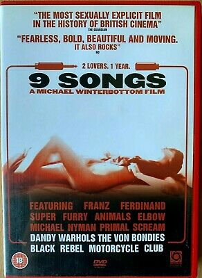 AU13.40 • Buy 9 Songs DVD 2004 Notorious Sexually Explicit Sex Drama Nine With Margot Stilley