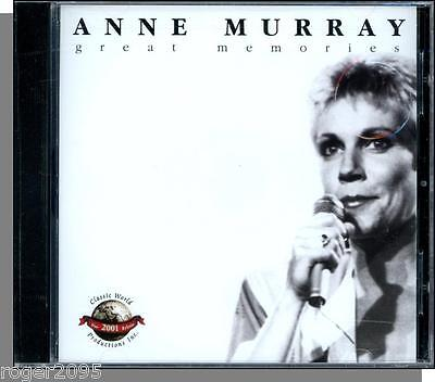 Anne Murray - Great Memories (2000) - New Classic World Productions CD! • 3.99$