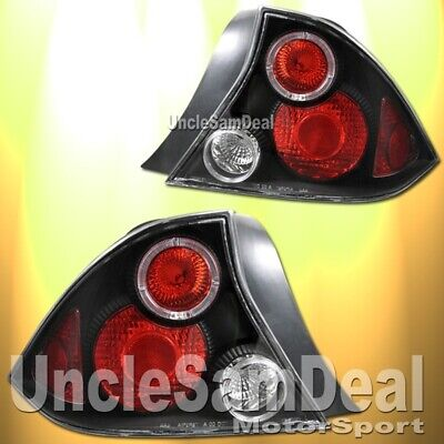 $94.99 • Buy 01-03 Honda Civic 2dr Coupe Red Halo Rim Altezza Tail Lights Jdm Black Pair