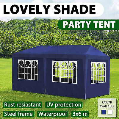 AU125.99 • Buy VidaXL Party Tent 3x6m Garden Canopy Marquee Gazebo Pavillion Wall White/Blue