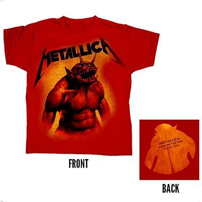 £19.95 • Buy Official Metallica - Jump In The Fire JITF - Child Youth Red T-Shirt