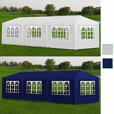 AU139.99 • Buy VidaXL Party Tent 3x9m With 8 Walls Garden Gazebo Marquee Pavilion White/Blue