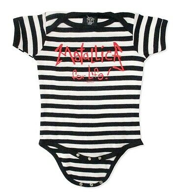 £13.82 • Buy Metallica For Life Baby Infant Striped Jumper Crawler One Piece NEW