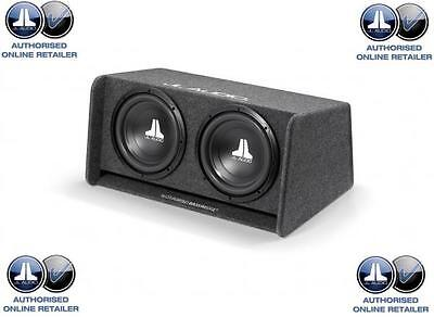 JL Audio CP212-W0v3 Double 12  Sub Woofer And JL Slot Port Box Bass Wedge • 349.99£