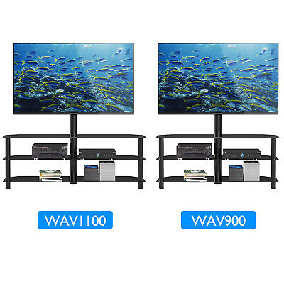 View Details Tempered Glass TV Stand Cantilever W/ Swivel Wall Bracket 32-55  Plasma LCD LED • 52.99£