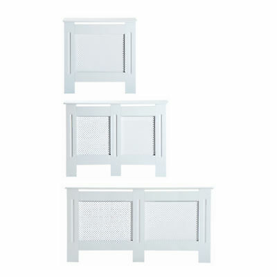 Radiator Cover White 3 Sizes Available MDF Solid Modern Home Design Assembly • 40.99£