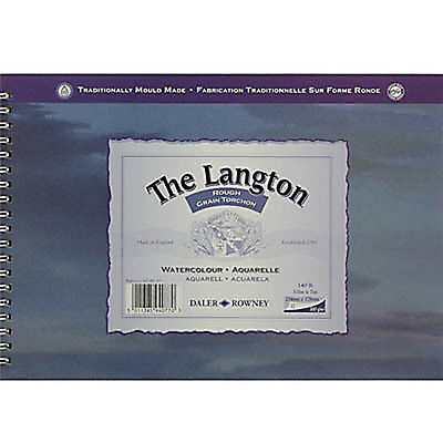 Daler Rowney Langton Watercolour Spiral Bound Pad - 140lb / 300gsm Rough 10 X7  • 15.99£