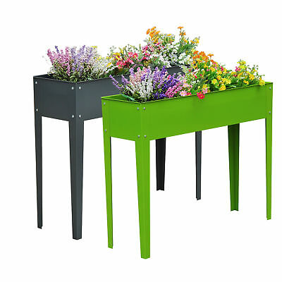 Raised Garden Flower Bed Elevated Plant Kit Deck Vegetable Planter Herb Box New • 31.99£