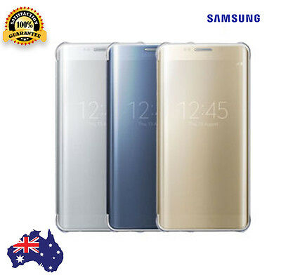 AU5.49 • Buy Samsung Galaxy S6 Cover Clear Flip Case Slim Protective Genuine Cover