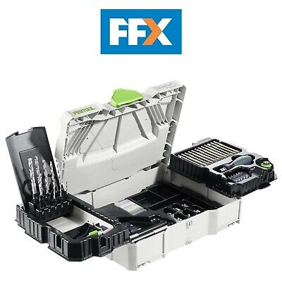 Festool 497628 SYS1 CE-SORT Centrotec Systainer Kit 98 Piece Assembly Package • 394£