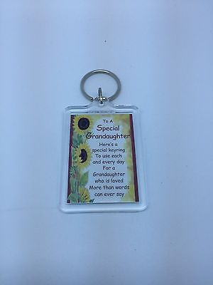 £2.99 • Buy TO A SPECIAL GRANDAUGHTER  Keyring - Family Gift Present Idea