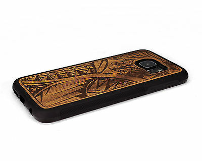 $ CDN40.22 • Buy Handcrafted Wood Samsung S6 / S6 Edge Plus Case Soft Rubber Sides Nuwoods Tribal