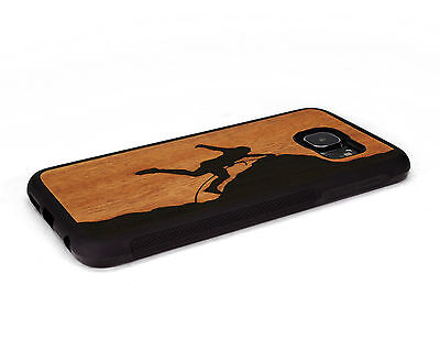 $ CDN43.58 • Buy Handcrafted Wood Samsung S6 / S6 Edge Plus Case Soft Sides Nuwoods, Rock Climber