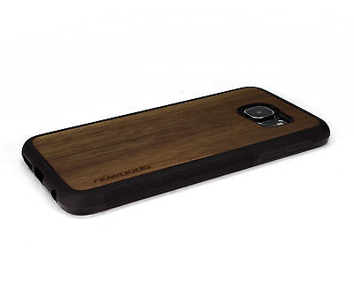 $ CDN32.69 • Buy Handcrafted Wood Samsung S6 / S6 Edge Plus Case Soft Rubber Sides Nuwoods Walnut