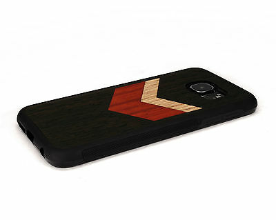 $ CDN43.58 • Buy Handcrafted Wood Samsung S6 / S6 Edge Plus Case Soft Rubber Side Nuwoods Chevron