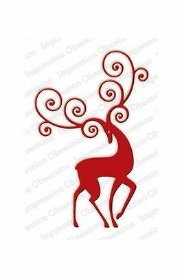 £16.10 • Buy REINDEER FLOURISH DIE-Impression Obsession (336V)suitable For Most Die Cutters