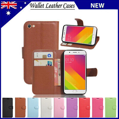 AU7.25 • Buy Premium Leather Wallet Flip Case Cover For Oppo F1s R9 R9s Plus A57 A77 AX5 Case