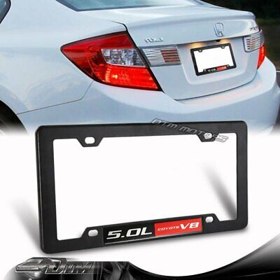 1X Ford Mustang GT F150 5.0 5.0L Coyote V8 Engine License Plate Tag Frame Black • 11.88$