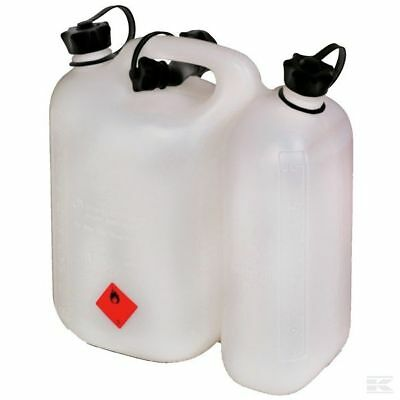 £21.50 • Buy Chainsaw Fuel Can Double Combi Can Jerry Can White 5l Fuel 3 L Oil With Spout
