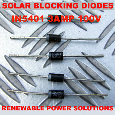 £2.99 • Buy 5 X BLOCKING Or BYPASS CATASTROPHY DIODES SOLAR BP PV UP TO 40W PER PANEL 3 AMP