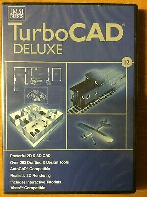 IMSI TurboCad 12 (PC) New & Sealed Free UK Postage CAD Design • 19.99£