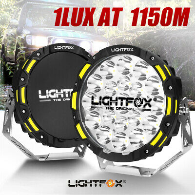 AU339.95 • Buy LIGHTFOX 9inch CREE Spot LED Driving Lights Spotlights Offroad 4x4 Black Round