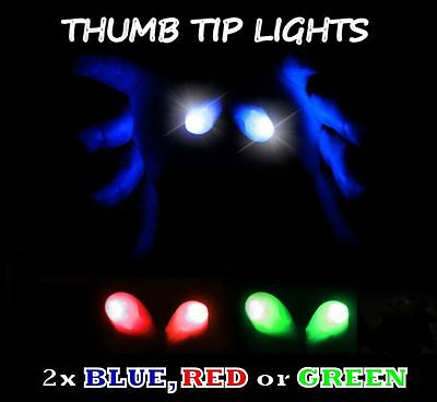 £2.90 • Buy 2x LIGHT UP THUMB FINGER TIP MAGIC TRICK THUMBTIP TWO IN RED GREEN WHITE OR BLUE
