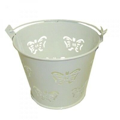 £5.99 • Buy Pack Of 10 Metal White Butterfly Favour Pails Favour Buckets XMEFABU13
