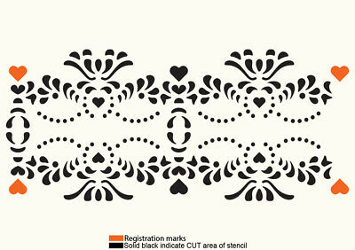 Border Stencil Lace Template Vintage Shabby Chic Wedding Cake Paint Craft BO9 • 4.49£