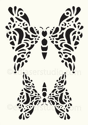 Butterfly Stencil Vintage Lace Template Card Making Paint Furniture Wall Art BU3 • 4.99£