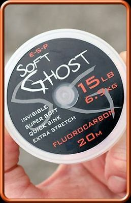 ESP Soft Ghost Fluorocarbon Hook Length 20m = Carp Fishing Line  • 9.75£