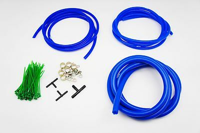 $29.90 • Buy AUTOBAHN88 Engine ROOM Silicone Air Vacuum Hose Dress Up Kit BLUE Fit Mustang