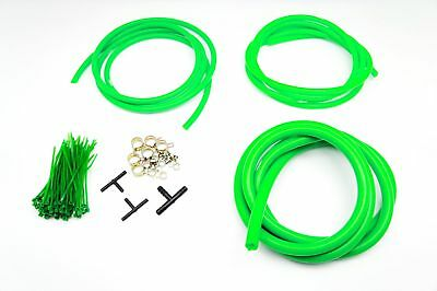 $29.90 • Buy AUTOBAHN88 Engine ROOM Silicone Air Vacuum Hose Dress Up Kit GREEN Fit Mustang