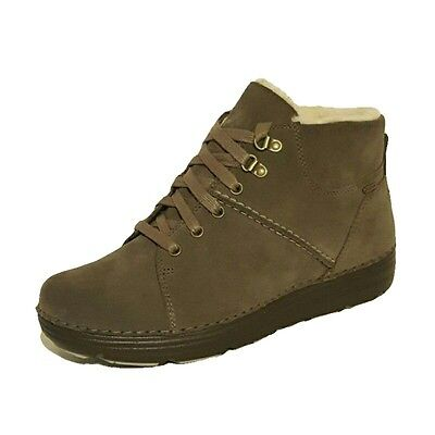 Clarks Nelia Lush Gtx Gore-tex Waterproof Warm Walking Boots Ladies Taupe Black • 44.99£