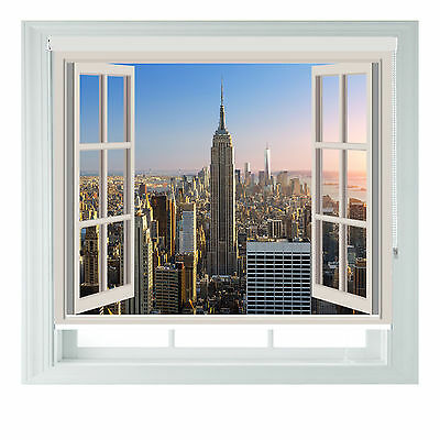 Window New York Empire State Printed Photo Black Out Roller Blinds Various Sizes • 65£