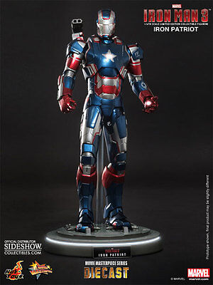 $ CDN499.95 • Buy HOT TOYS Iron Man 3 PATRIOT DIECAST 12  1/6 Scale Figure Sideshow Don Cheadle