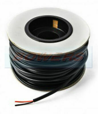 30M METRE ROLL REEL THIN WALL BLACK/RED TWIN 2 CORE CABLE WIRE 2x 1.0mm² 16.5A • 16.99£