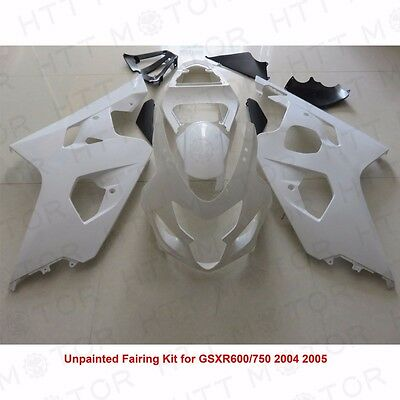 $538.99 • Buy Unpainted Drilled ABS Bodywork Fairing Kit For SUZUKI GSXR600 750 2004 05 SET