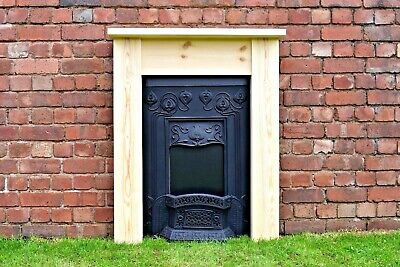 £90 • Buy Small Fire Surround/ Bedroom Pine Fire Surround Solid Pine Plus Made To Measure