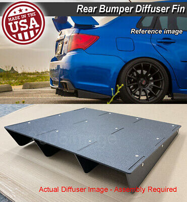 $53.96 • Buy 22  X 21  ABS Universal Rear Bumper 4 Fins Diffuser Fin Black For Mazda  Subaru
