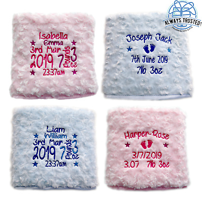 £13.99 • Buy Personalised Baby Blanket Embroidered Soft Fluffy Gift